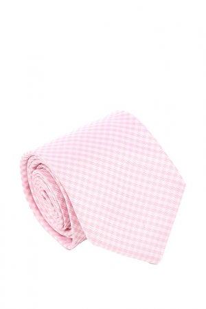Галстук Ascot. Цвет: розовый, белый, ромбик