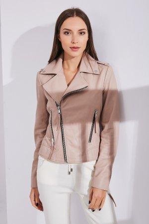 Женская Кожаная куртка 0107 INA VOKICH. Цвет: розовый