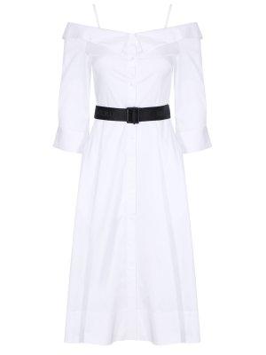 Платье-рубашка хлопковое KARL LAGERFELD