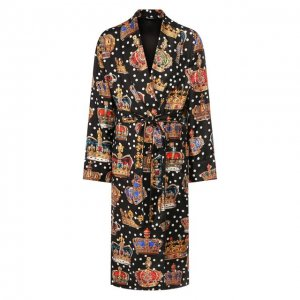Шелковый халат Dolce & Gabbana. Цвет: разноцветный