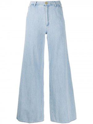 Расклешенные джинсы с завышенной талией Forte. Цвет: синий