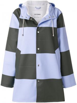 Пальто в клетку Marni. Цвет: синий