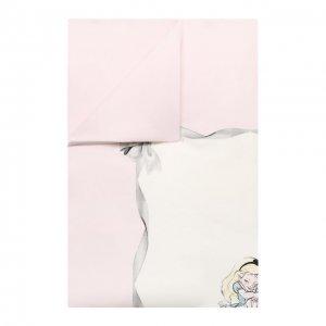 Хлопковое покрывало Monnalisa. Цвет: розовый
