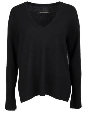 Шерстяной пуловер BY MALENE BIRGER. Цвет: черный