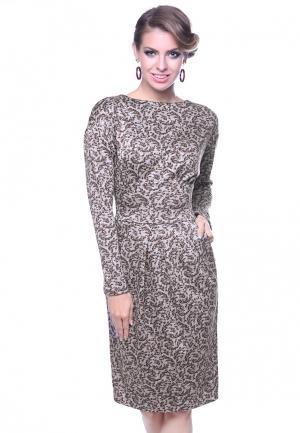 Платье Olivegrey DIANA. Цвет: бежевый