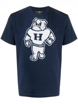 Футболка с логотипом Hydrogen. Цвет: синий
