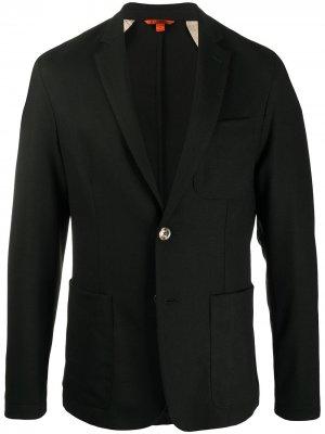 Однобортный пиджак строгого кроя Barena. Цвет: черный