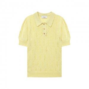 Хлопковый пуловер Paade Mode. Цвет: жёлтый