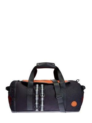 Спортивная сумка Bounce из прочного текстиля с принтом BIKKEMBERGS. Цвет: черный