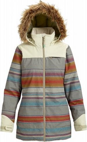 Куртка утепленная женская Lelah, размер 42-44 Burton. Цвет: серый