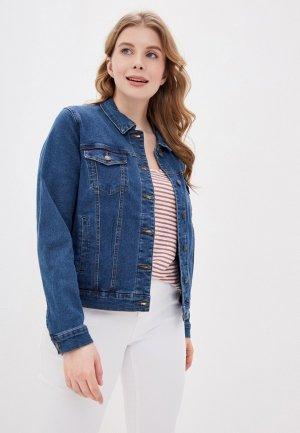 Куртка джинсовая Vero Moda Curve. Цвет: синий