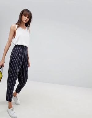 Суженные книзу брюки в полоску ASOS Tailored DESIGN