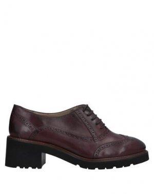 Обувь на шнурках CALPIERRE. Цвет: баклажанный