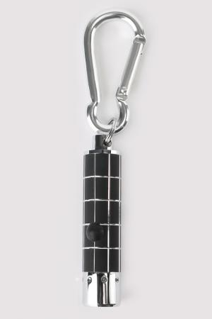 Брелок-фонарик COLIBRI. Цвет: серебряный