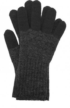 Шерстяные перчатки Yohji Yamamoto. Цвет: черный