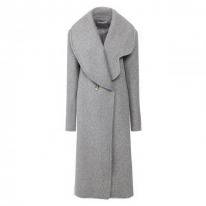 Шерстяное пальто Rejina Pyo. Цвет: серый