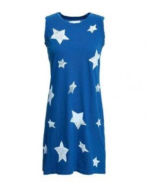 Короткое платье CURRENT/ELLIOTT. Цвет: синий