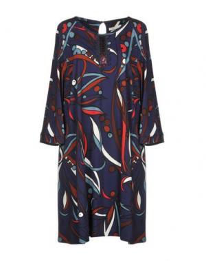 Платье до колена BEATRICE B. Цвет: темно-фиолетовый