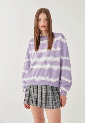 Свитшот Pull&Bear. Цвет: фиолетовый