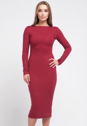 Платье Malaeva. Цвет: бордовый
