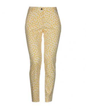 Повседневные брюки CAPPELLINI by PESERICO. Цвет: желтый