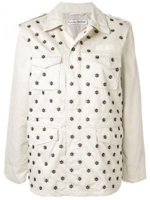 Куртка с отделкой бусинами Tu es mon TRÉSOR. Цвет: белый