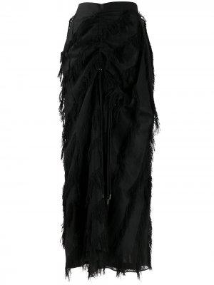 Юбка с бахромой Chalayan. Цвет: черный