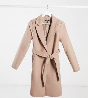 Бежевое пальто с поясом -Кремовый New Look Maternity