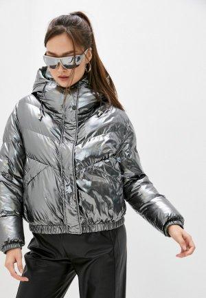 Куртка утепленная Patrizia Pepe REVERSIBLE. Цвет: разноцветный