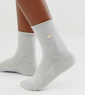 Хлопковые серые носки с серебристыми блестками -Розовый Birkenstock
