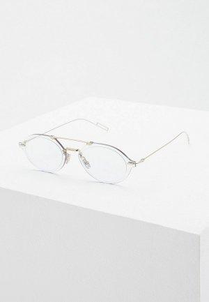Очки солнцезащитные Christian Dior Homme DIORCHROMA3 3YG. Цвет: серебряный
