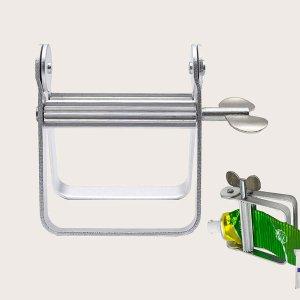 1шт Соковыжималка для зубной пасты из нержавеющей стали SHEIN. Цвет: серебряные