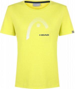 Футболка женская Club Lara, размер 46-48 Head. Цвет: желтый
