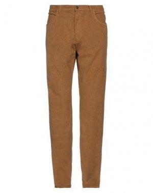 Повседневные брюки BROOKS BROTHERS. Цвет: верблюжий