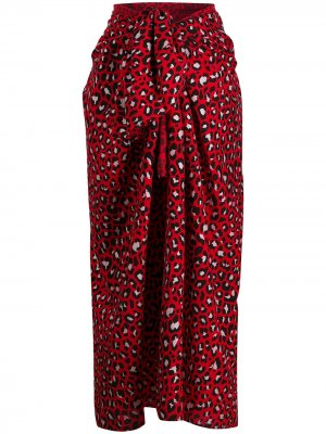 Юбка-саронг с леопардовым принтом Zadig&Voltaire. Цвет: красный