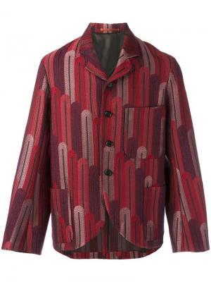 Пиджак с узором в стиле ар-деко Walter Van Beirendonck. Цвет: красный