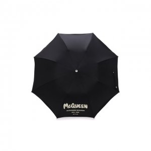 Складной зонт Alexander McQueen. Цвет: чёрный