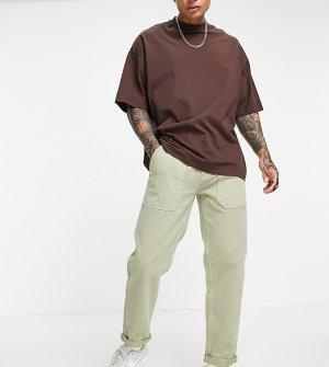 Светло-бежевые брюки-чиносы классического кроя -Светло-бежевый New Look