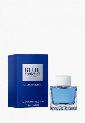 Туалетная вода Antonio Banderas Blue Seduction Men. Цвет: прозрачный