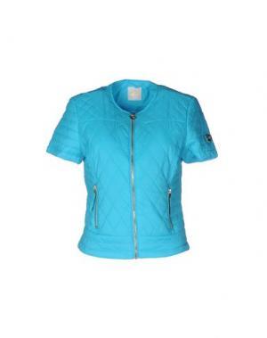 Куртка MAISON ESPIN. Цвет: бирюзовый