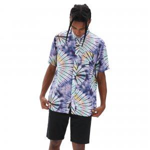Рубашка New Age Tie Dye Buttondown VANS. Цвет: фиолетовый
