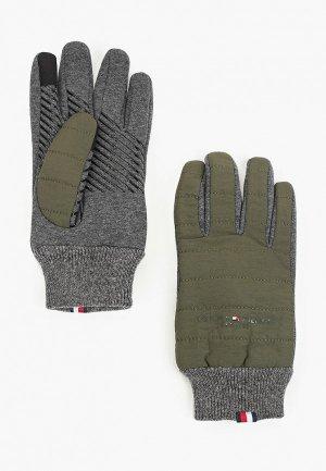 Перчатки Tommy Hilfiger. Цвет: хаки