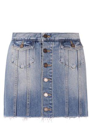 Джинсовая мини-юбка YSL
