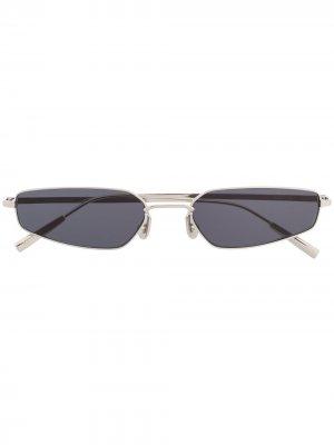 Солнцезащитные очки в геометричной оправе AMBUSH. Цвет: серебристый