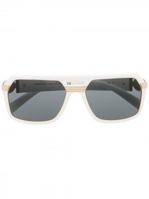 Солнцезащитные очки-авиаторы Vintage Icon Versace Eyewear. Цвет: черный