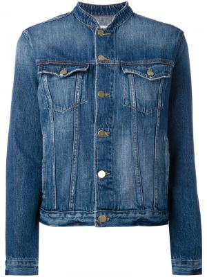 Классическая джинсовая куртка Frame Denim. Цвет: синий