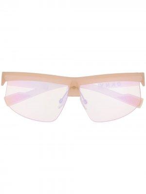 Солнцезащитные очки Shield DKNY. Цвет: розовый