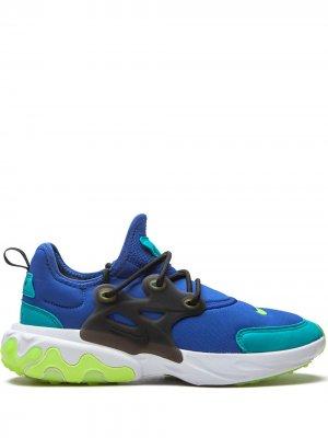 Кроссовки React Presto GS Nike Kids. Цвет: синий