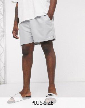 Серые волейбольные шорты 5 дюймов Plus-Серый Nike Swimming
