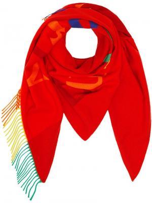 Кашемировая бандана с логотипом Burberry. Цвет: красный